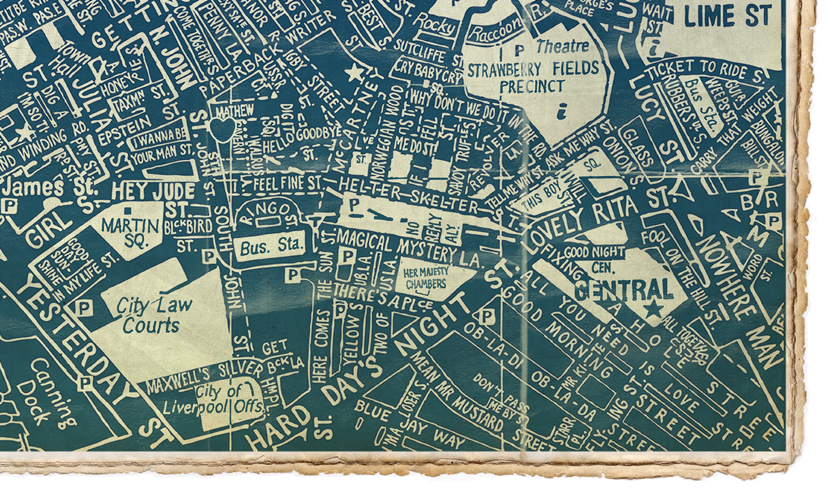 The beatles liverpool blueprint map malvernweather Choice Image